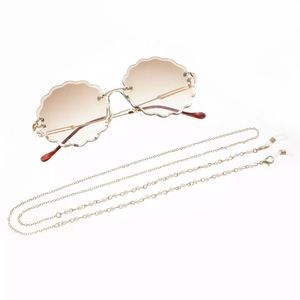 Accessories - Sunglasses Glasses Gold Tone Chain